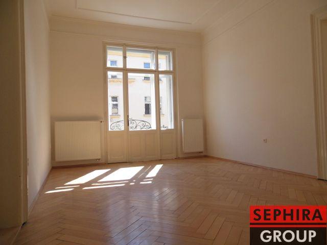 Pronájem bytu 2+1 s balkónem, P2, Vinohrady, Chodská ul., 62,57 m2, nezařízeno, ihned volné