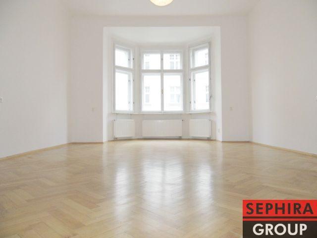 Pronájem bytu 2+1 s pracovnou a balkónem, P2, Vinohrady, Čerchovská ul., 92 m2, nezařízeno, ihned volné